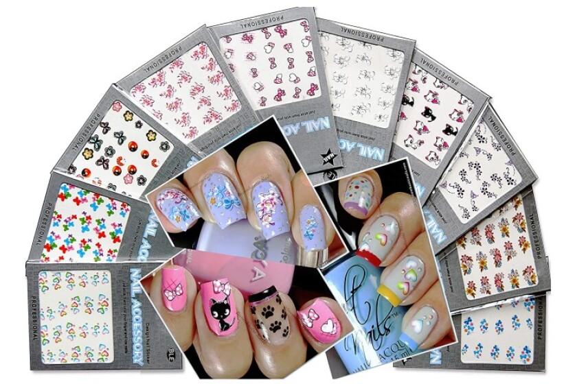best La Demoiselle Beautiful Water Nail Tattoo Stickers