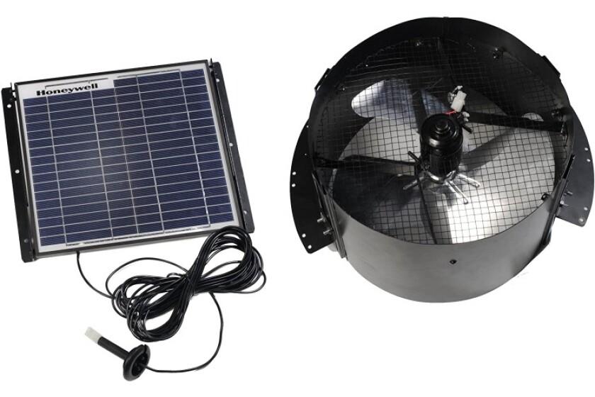 best Honeywell 12-Watt Gable Mount Solar Powered Attic Fan Model 527SHON103BLK