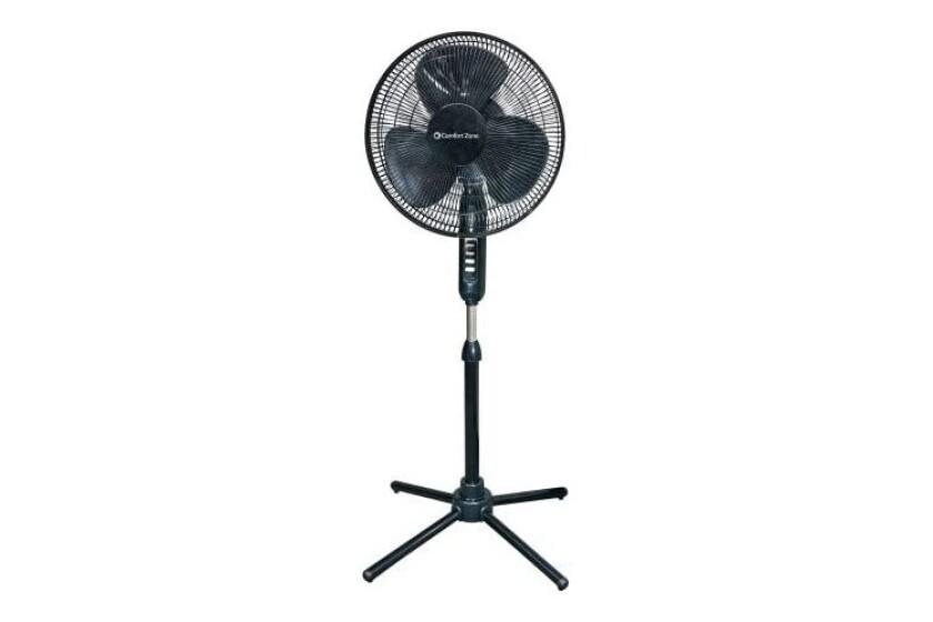 "best Comfort Zone 16"" Oscillating Pedestal Fan Model CZST161EB"