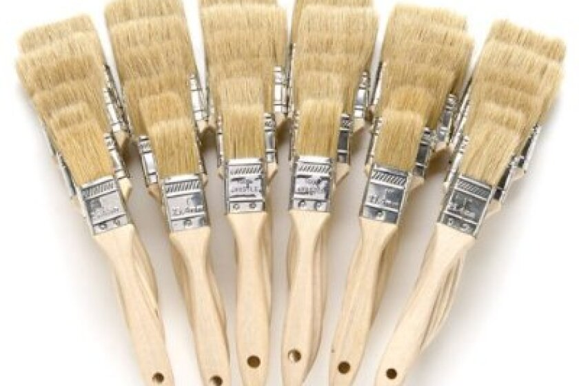 Wood River White China Brushes- Shop Pack of 36