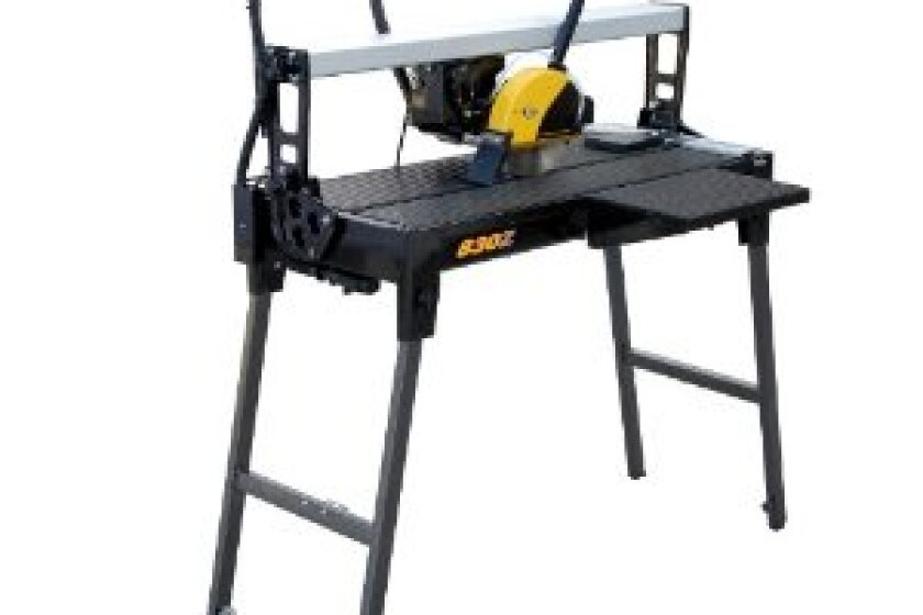 "QEP 83230 30"" Bridge Tile Saw with Water Pump and Stand"