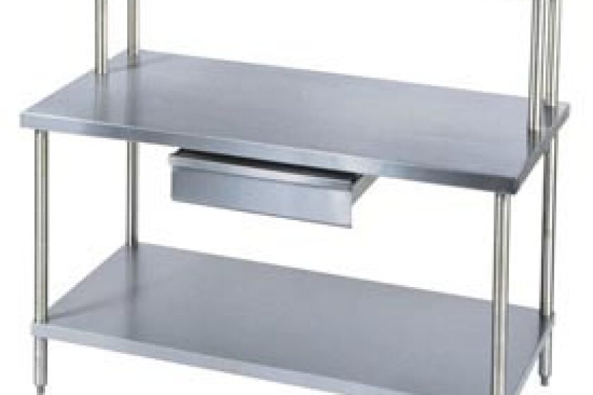 "Aero Manufacturing 72"" x 30"" Stainless and Galvanized Steel Workbench"