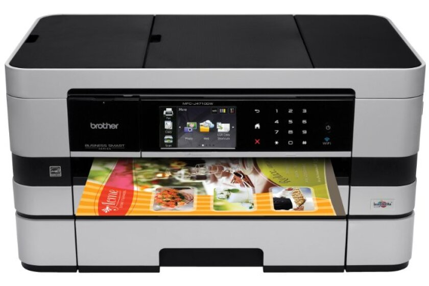 Brother Printer MFCJ4710DW Wireless Color Inkjet All-in-One Printer with Scanner, Copier and Fax