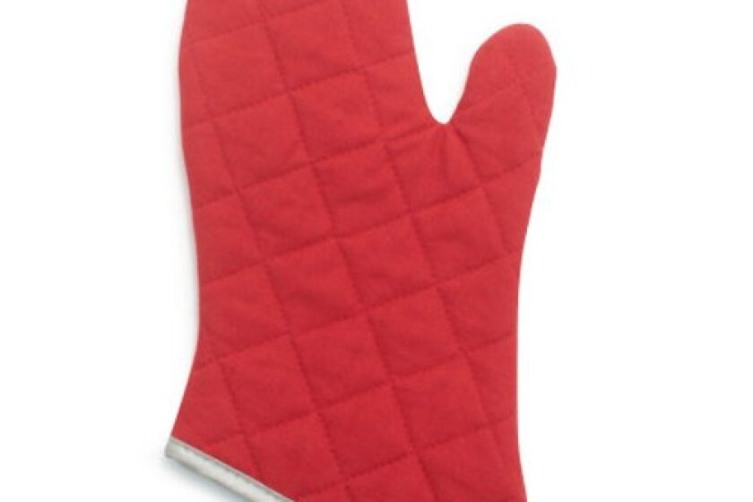 Flameguard Red Oven Mitts