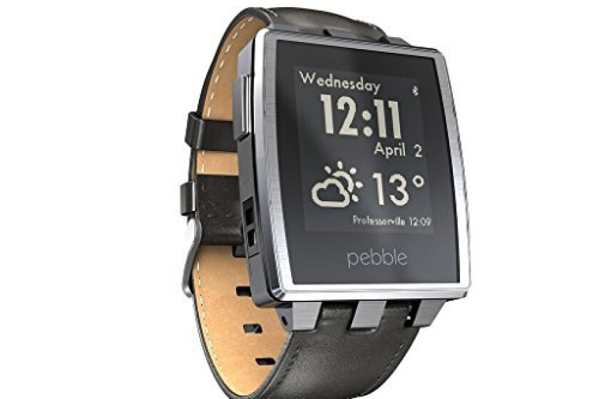 Pebble Brushed Stainless Steel Smart Watch