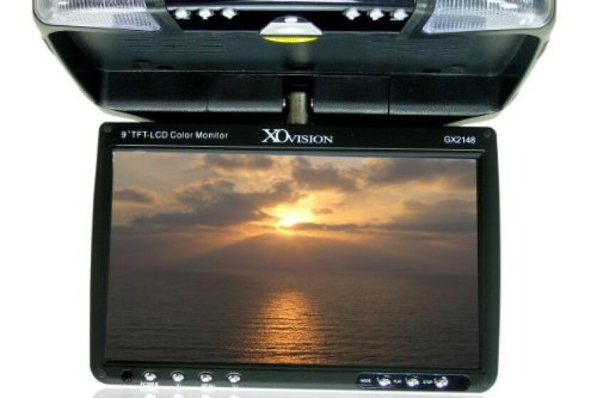 "XO Vision 9"" Wide Screen Overhead Monitor with Built-in DVD Player, GX2148"