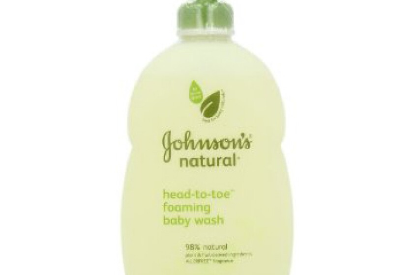 Johnson's Natural Head-to-Toe Foaming Baby Wash