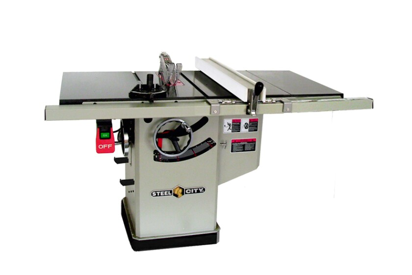 """Steel City 10"""" 1.75 HP Granite Topped Hybrid Table Saw"""