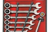 Craftsman 8 pc. Metric Reversible Ratcheting Combination Wrench Set
