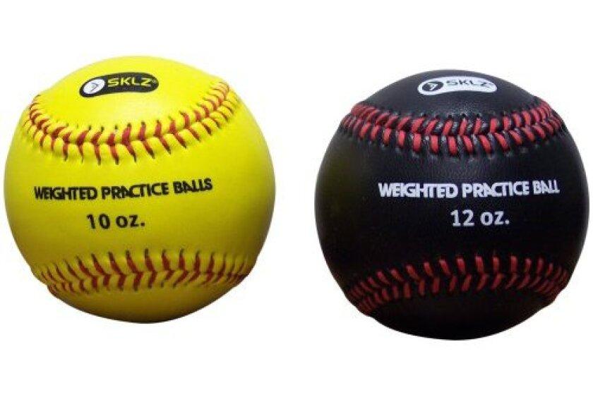 SKLZ Weighted Baseballs (Yellow 10 oz, Black 12 oz)