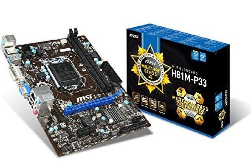 MSI H81M-P33 Intel H81 Micro ATX Motherboard