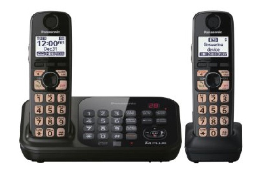 Panasonic KX-TG4742B DECT 6.0 Cordless Phone with Answering System, 2 Handsets