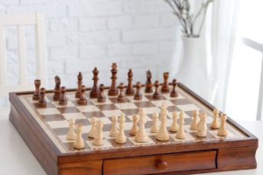 Monarch Walnut Chess Set with Storage and Extra Queens