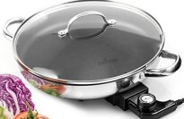 "12"" Stainless Steel Electric Skillet By Culina"
