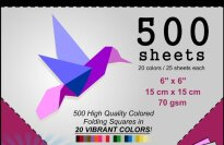 Origami Craze 500 Sheet Economy Pack Origami Paper