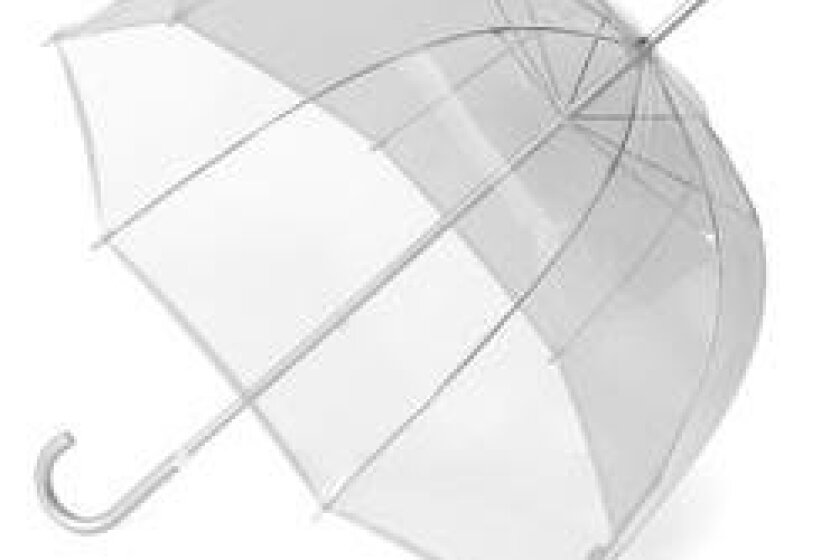 Classic Clear Bubble Stick Umbrella by Totes