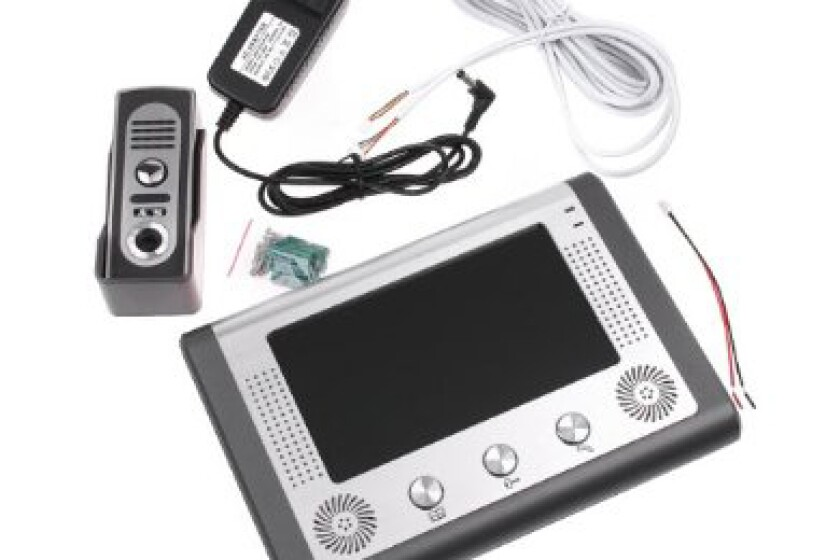 7 Inch Video Door Phone Doorbell Intercom Kit 1-camera 1-monitor Night Vision Wired