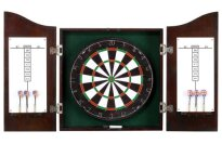 Hathaway Centerpoint Solid Wood Dartboard and Cabinet Set