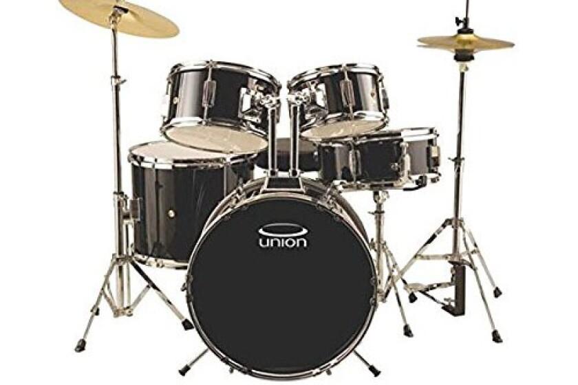 Union Drums Union UJ5BK Junior 5-Piece Black Drum Set