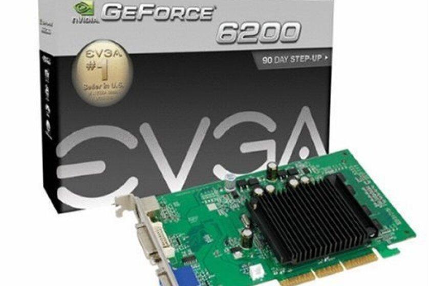 EVGA GeForce 6200 LE 512 MB DDR2 AGP 8X VGA/DVI-I/S-Video Graphics Card, 512-A8-N403-LR