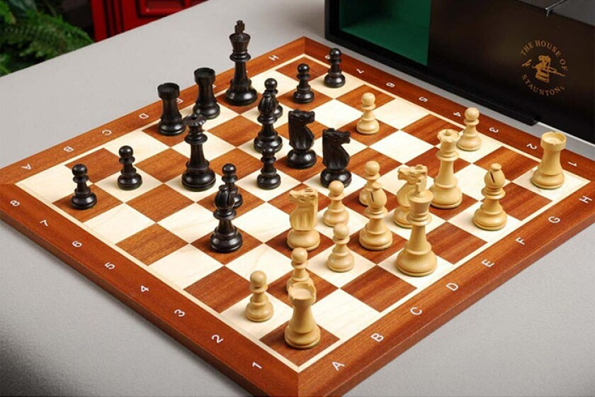 House of Staunton Club Series Chess Set and Board Combination