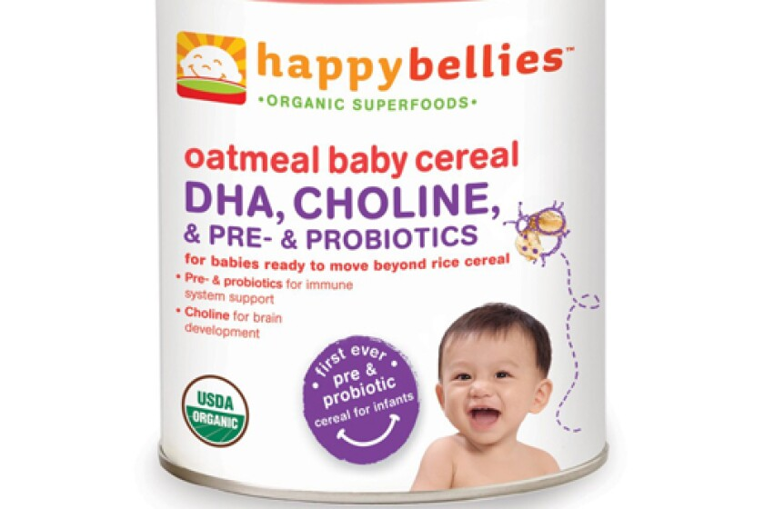 Happy Bellies Organic Baby Cereals with DHA + Pre & Probiotics