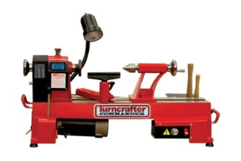 PSI Woodworking Commander 10-Inch Variable Speed Midi Lathe
