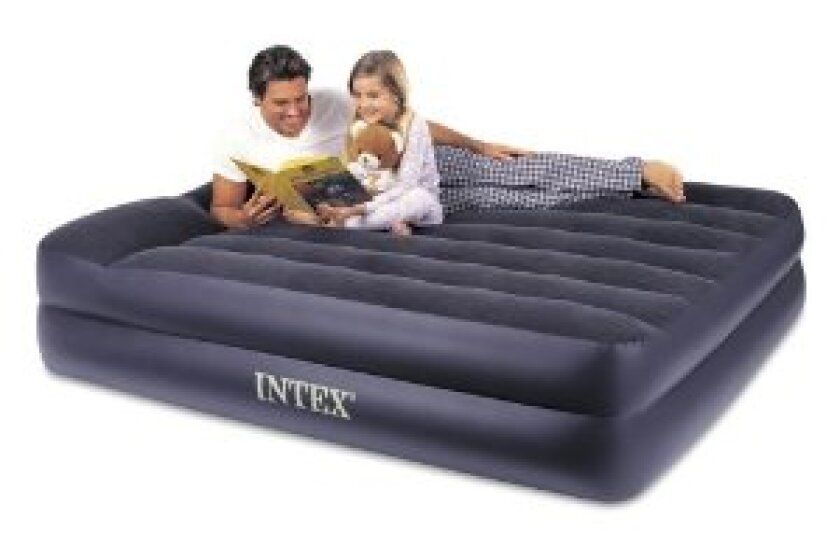 Intex Queen Pillow Rest Raised Bed with Built-in Electric Pum