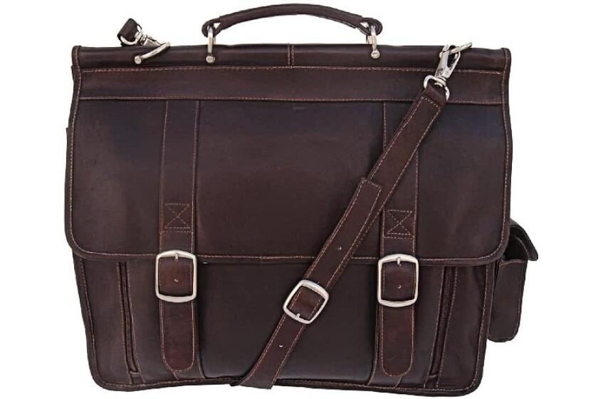 best Piel Leather European Briefcase