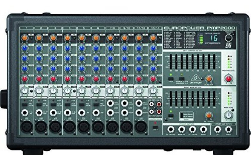 Behringer Europower PMP2000 Powered Mixer 10 Channels, 2x350 Watts, Non-Factory Sealed