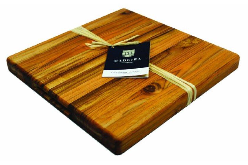 Madeira Housewares Provo Teak - Edge Grain M Chop Block