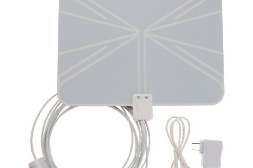 AmazonBasics Ultra-Thin Amplified Indoor HDTV Antenna