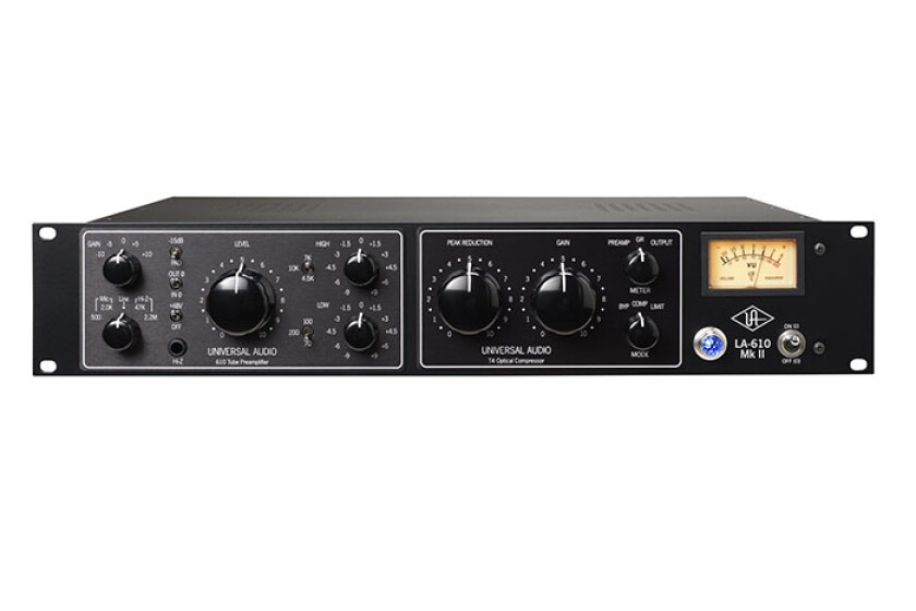 Universal Audio LA-610 Mk II Classic Tube Recording Channel