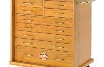 South Bend SB1355, 11 Drawer Oak Roller Cabinet