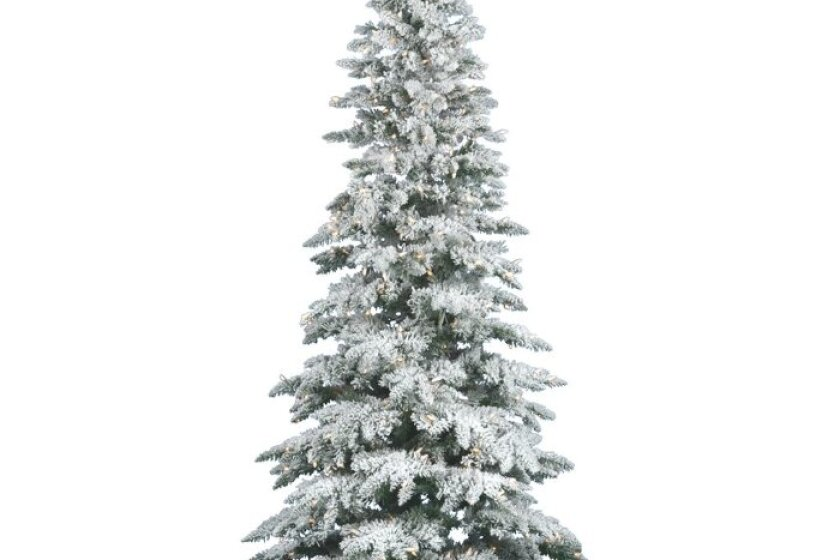 Vickerman 9' Flocked Utica Fir Artificial Christmas Tree with LED Lights