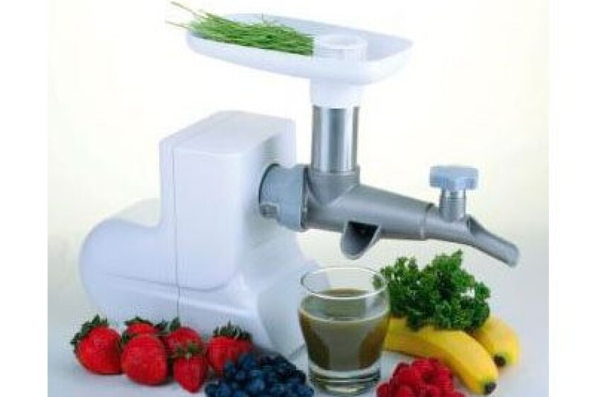 Miracle MJ-550 White Electric Wheatgrass Juicer
