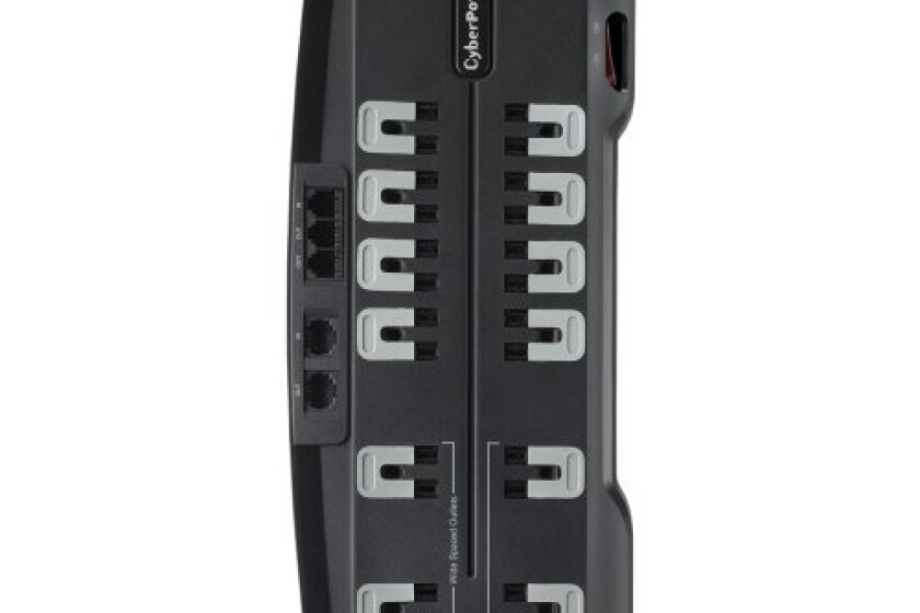 CyberPower CSHT1208TNC2 Home Theater 12-Outlets Surge Suppressor NET, and AV protection