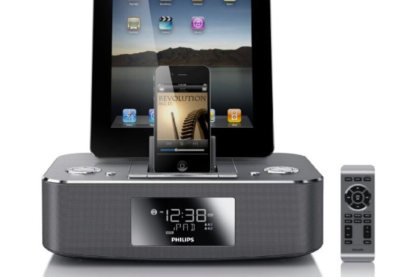 Philips DC390/37 Dual-Docking Alarm Clock Speaker Dock