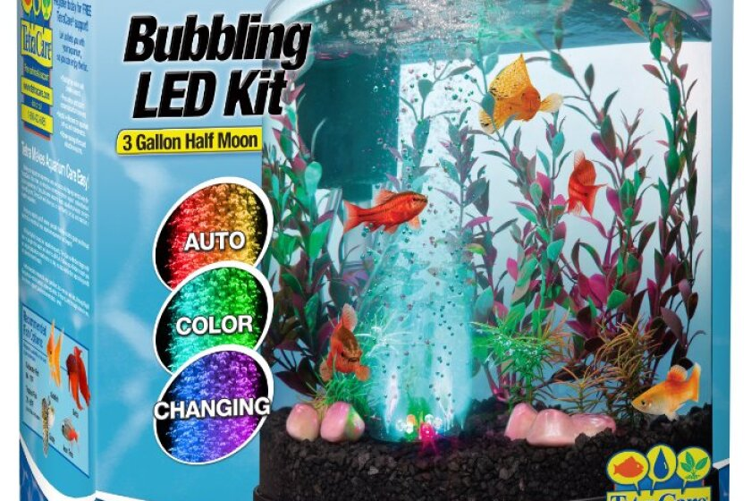 Tetra 3 Gallon Bubbling LED Desktop Aquarium Kit