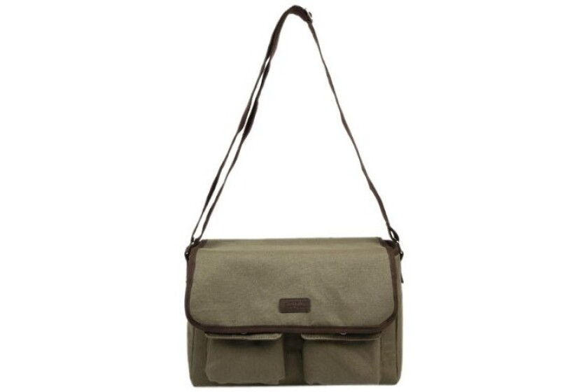 best Sachi Canvas Messenger Insulated Lunch Bag