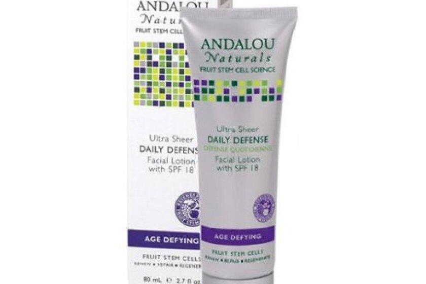 Andalou Naturals Ultra Sheer SPF 18 Daily Defense Facial Lotion