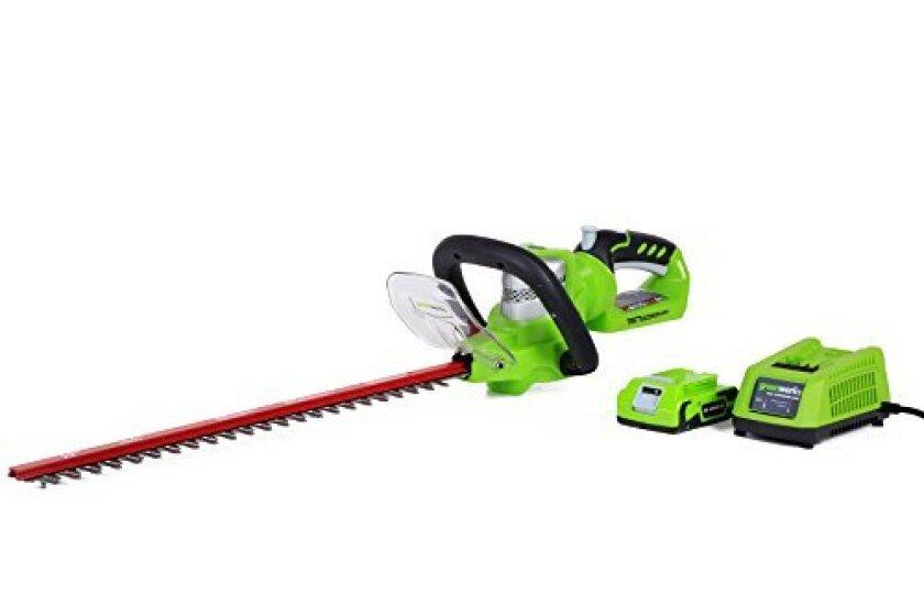 GreenWorks 2200302 G-24 Li-Ion 22-Inch Cordless Hedge Trimmer