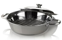 """Wolfgang Puck 12"""" Windsor Casserole Pan with Lid"""
