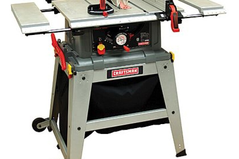 """Craftsman 10"""" Table Saw with Laser Trac, #21807"""
