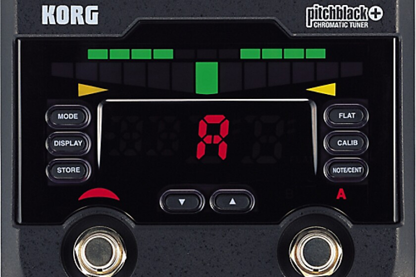 Korg PB02 Pitchblack + Chromatic Pedal Tuner
