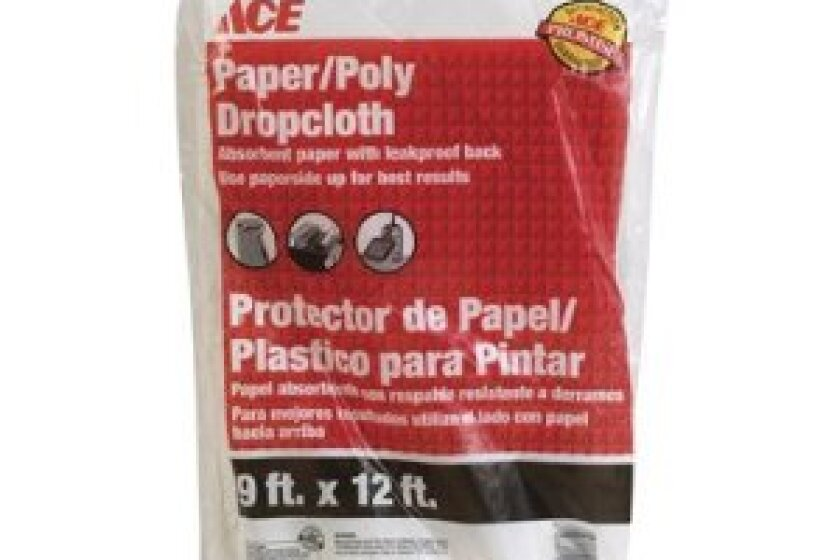 Triamco Ace 1260157 9' x 12' Paper/Poly Drop Cloth