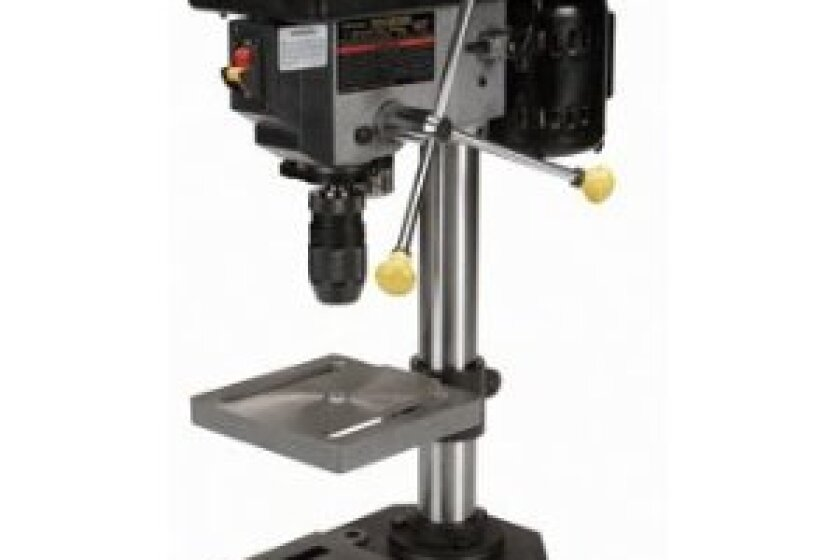 Central Machinery 5 Speed Bench Drill Press With 1/2 Keyless Chuck