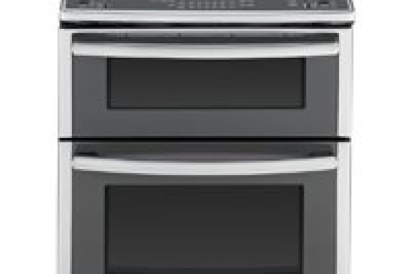 "GE 30"" Stainless Steel Electric Slide-In Double Oven Convection Range - PS950SFSS"