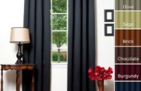 Solid Grommet Top Thermal Insulated Blackout Curtain