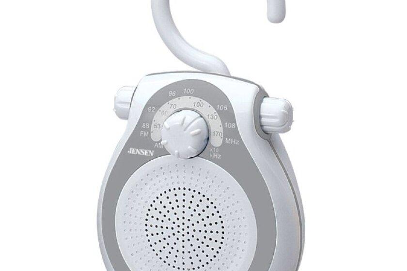 Jensen JWM-120 AM/FM Shower Radio with Splash Resistant Cabinet